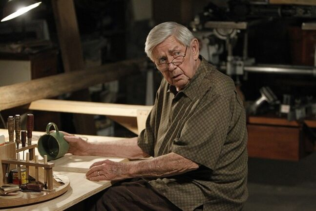 This photo released by CBS shows Ralph Waite, as Jackson Gibbs, in an episode