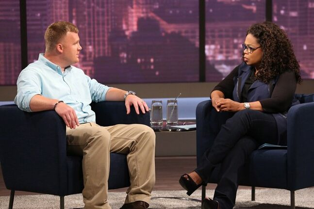 Matt Sandusky, the adopted son of former Penn State University assistant football coach Jerry Sandusky, is pictured during an interview with Oprah Winfrey, airing on OWN on Thursday, July 17. THE CANADIAN PRESS/AP, Harpo, Inc., George Burns