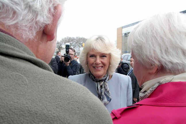 Camilla, Duchess of Cornwall, visited the Assiniboine Credit Union (ACU) at 360 McGregor St. in the North End as part of the royal couple's visit to Winnipeg on Wed., May 21. She visited ACU to learn more about how credit unions function in Canada.