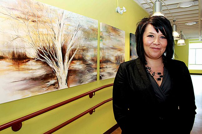 Metis artist Lisa Delorme Meiler with her painting exhibition Awakened Spirit, on now until March 2 at Neechi Commons (865 Main St.). Meiler will deliver an artist talk on Feb. 8 at 2 p.m. at Neechi. For more on Meiler's work, go to lisadelormemeiler.ca