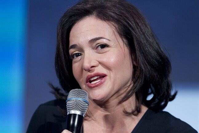 FILE - In this Sept. 24, 2013, file photo, Sheryl Sandberg, the Chief Operating Officer of Facebook, speaks at the Clinton Global Initiative in New York. Sandberg says the key to tapping into the lucrative small business market is showing business owners how to find new customers by creating Facebook pages and buying ads that appear on individual Facebook users' pages. The company plans a campaign called Facebook Fit with workshops in five cities to show owners the nuts and bolts of using Facebook as a marketing tool. (AP Photo/Mark Lennihan, File)