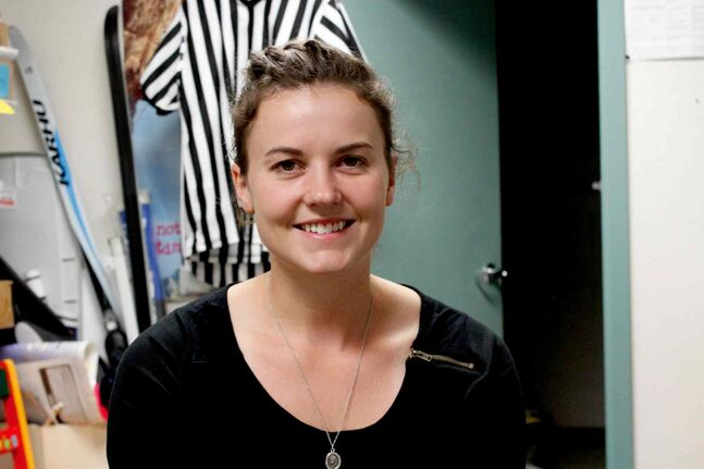 Sarah Zacharias is the program co-ordinator for the Balmoral Hall Blazers hockey development program. This is the first year the school is allowing girls from outside Balmoral Hall to sign up for the camp.