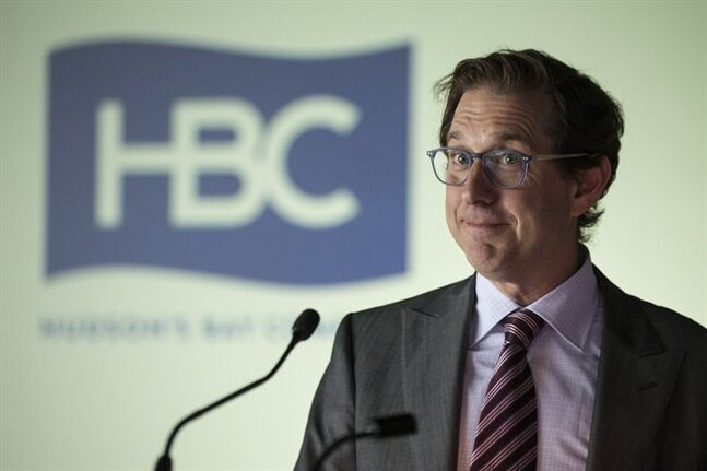 Richard Baker, Hudson's Bay Company's Governor and Chief Executive Officer attends the company's AGM in Toronto on Tuesday June 17, 2014. THE CANADIAN PRESS/Chris Young