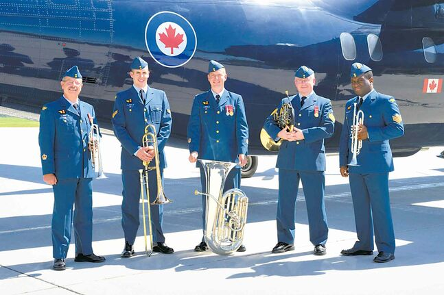 Members of the Command Brass from the Royal Canadian Air Force Band will perform at a Nov. 12 luncheon hosted by the Women's Canadian Club of Winnipeg to commemorate Remembrance Day.