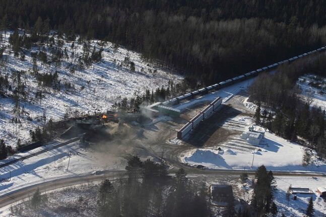 Another CN freight train derailed earlier this month (pictured) in Plaster Rock, N.B. THE CANADIAN PRESS/Tom Bateman