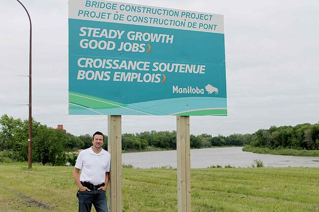 Dave Gaudreau, MLA for St. Norbert, highlights new infrastructure improvements that will benefit families in south Winnipeg.