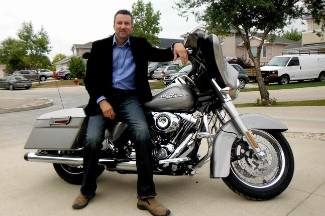Motorcycle enthusiast and partner in the fight against cancer — Dave Gaudreau, MLA for St. Norbert.
