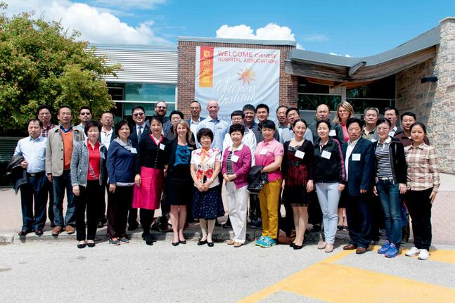 Roughly 30 officials from the Chinese Hospital Association came to study our award-winning Wellness Institute at the Seven Oaks General Hospital with the aim of incorporating Manitoba's wellness practices in China.