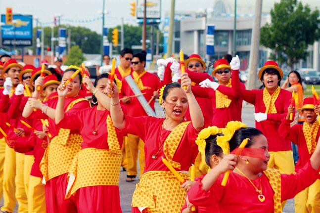 These colourfully dressed dancers were part of the parade at last year's Manitoba Filipino Street Festival.