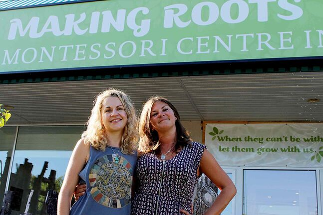 Making Roots Montessori Centre founders Kristin Shipman-Adams (left) and Megan Turner say the school's first year was a great success and are looking forward to what the new school year has in store.