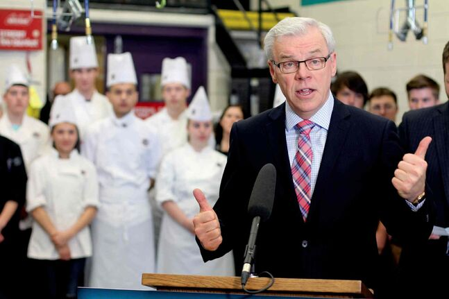 Premier Greg Selinger announces $30 million in new capital funding to build and expand high school training shops.