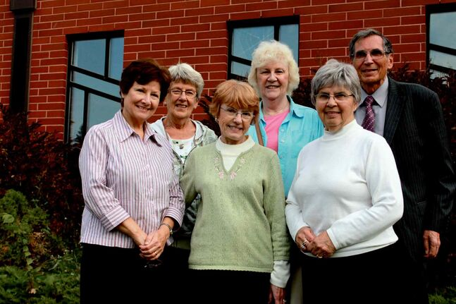 Sturgeon Creek United Church will be hosting a housing expo on Oct. 19. Front, from left: Cheryl Cels and co-chairs Judy Sawyer and Janet Banks. Back: Barbara Plummer, Norma Harvey and Fred Birrell.