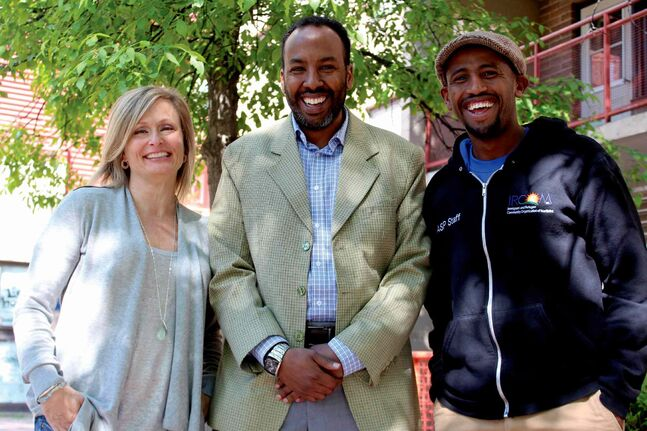 From left to right: Anne Mahon, Abdi Ahmed and Muuxi Adam are looking forward to raising awareness on National Refugee Day with Humankind International's third annual fundraising dinner Fri., June 20.