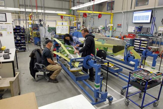 Strong production levels at Winnipeg's Boeing plant will help the aerospace industry's export numbers.