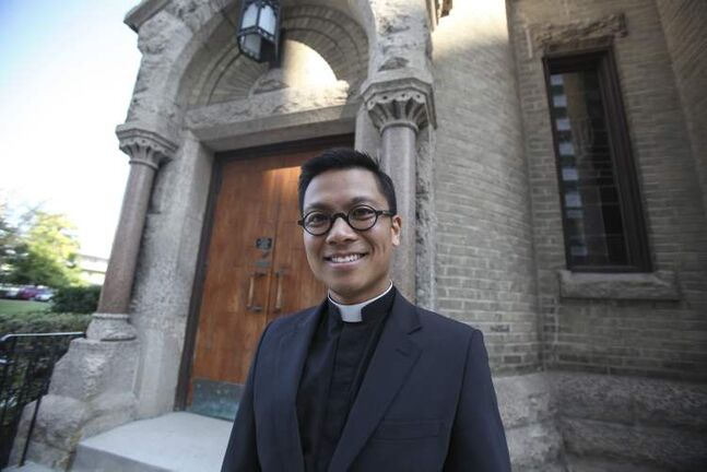 Rev. Geoffrey Angeles becomes the first Filipino-Canadian rector of St. Mary's Cathedral.