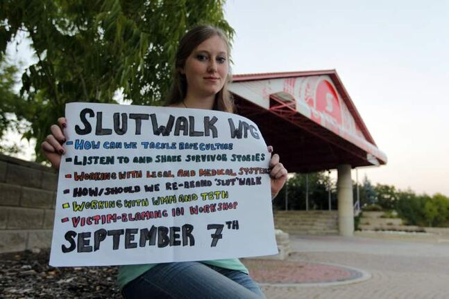 Kassiy Swan concedes the provocative SlutWalk name may be keeping people away from the event.