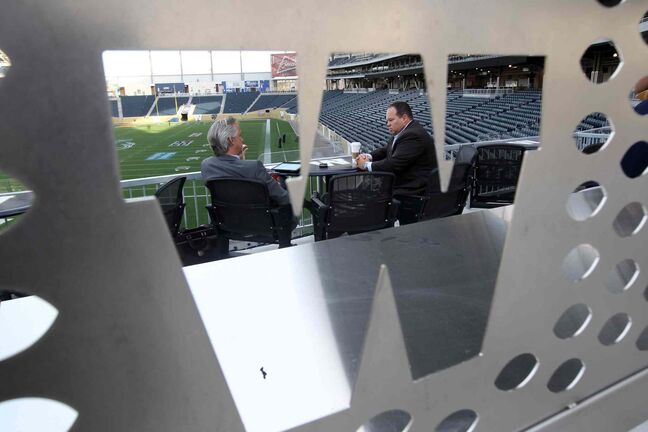 Winnipeg Free Press reporter Paul Wiecek speaks with Winnipeg Blue Bombers Acting Chief Executive Officer Wade Miller.