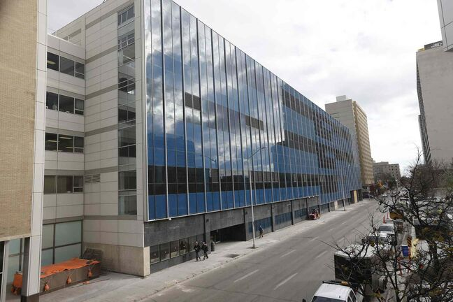 The new Winnipeg police HQ in the renovated Canada Post building on Graham Avenue.