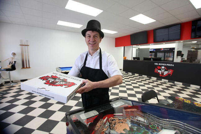 Mr. Bones Pizza owner Harold Brazil is back in the pizza game.