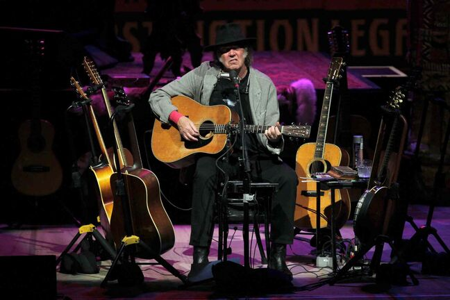 Neil Young was in Winnipeg last week during a tour raising money to fight oil sand development in Alberta.