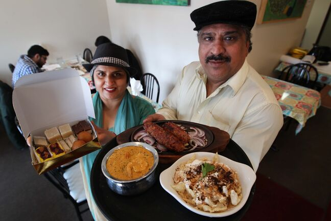 Sunita Nagpal and her husband Avnish prepare tasty dishes at Sizzling Dhaba.