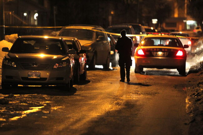 Late night police were on the scene on Young Street near Sargent Ave.