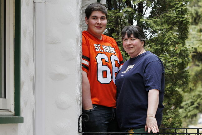 Ryan Veldkamp with his mom, Carla Veldkamp.