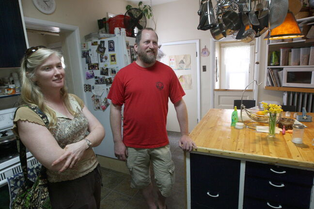Stephanie and Travis Unger own three rooming houses on Spence Street.