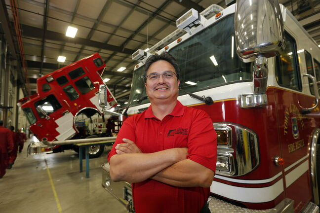 Ron Lavallee sees an opportunity for Fort Garry Fire Trucks to send some of its First Nations employees to the U.S to service trucks it sells there.