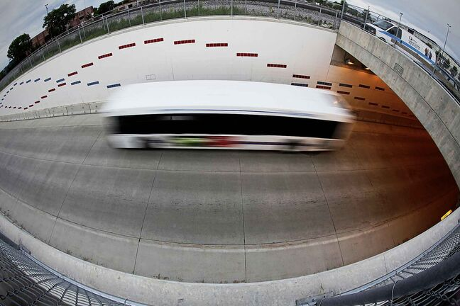June 24, 2014 - 140624  -  Bus Rapid Transit photographed Tuesday, June 24, 2014. John Woods / Winnipeg Free Press