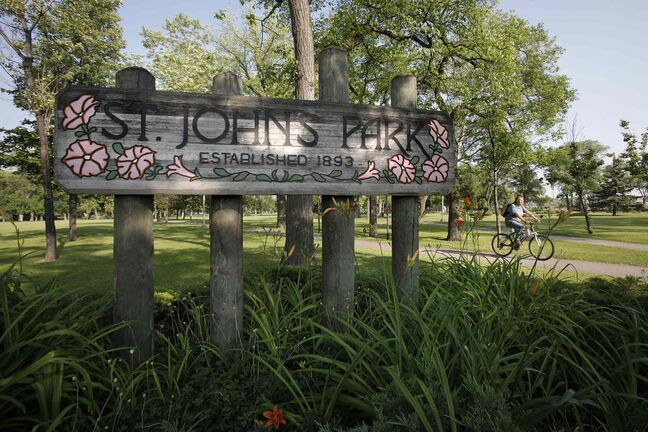 City parks caretaker Cathy Reeve says St. John's Park was not in great shape when she took over her job, but civic pride has spiffed it up in recent years.