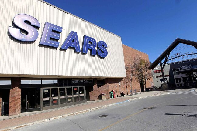 The Sears department store at St. Vital Centre closed in 2017.