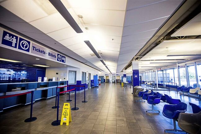 The Greyhound bus terminal at the Winnipeg airport on Monday, July 9, 2018.
