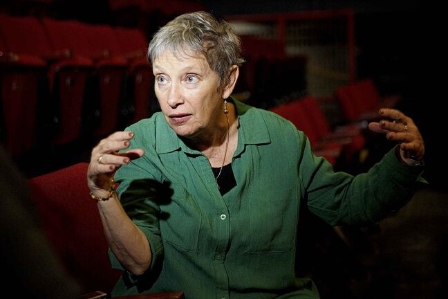 Leslee Silverman, the founding artistic director of MTYP, during a rehearsal for Comet in Moominland. (Mike Deal / Winnipeg Free Press)