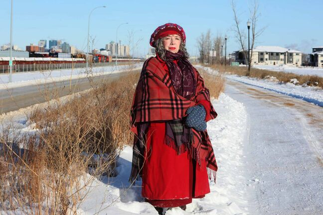 RUTH BONNEVILLE / WINNIPEG FREE PRESS    49.8 - rail safety - Bev Pike    Photo of Bev Pike, co-ordinator, South Osborne Residents Group, Pike lives in Lord Roberts and decried new and planned condos being built nearby in the Fort Rouge yards, which she believes are too close to the yard and violate a mandatory buffer.    Photo taken next to rapid transit and rail line.      Dec 31st,  2018