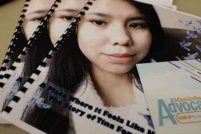 The 115-page report is split between retelling Tina Fontaine's life and making recommendations to lessen the odds of another case like hers happening. RUTH BONNEVILLE / WINNIPEG FREE PRESS