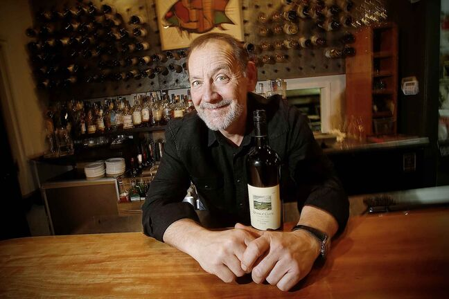 JOHN WOODS / WINNIPEG FREE PRESS  Scot McTaggart, owner of Fusion Grill on Academy Road, is photographed in his restaurant in Winnipeg Tuesday, December 3, 2019. Manitoba government have passed legislation allowing restaurants to sell alcohol for delivery and take-out.    Reporter: Israel