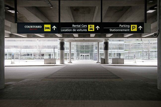 JOHN WOODS / WINNIPEG FREE PRESS FILES  Visitors to Winnipeg's airport have been few and far between as many flights have been cancelled.