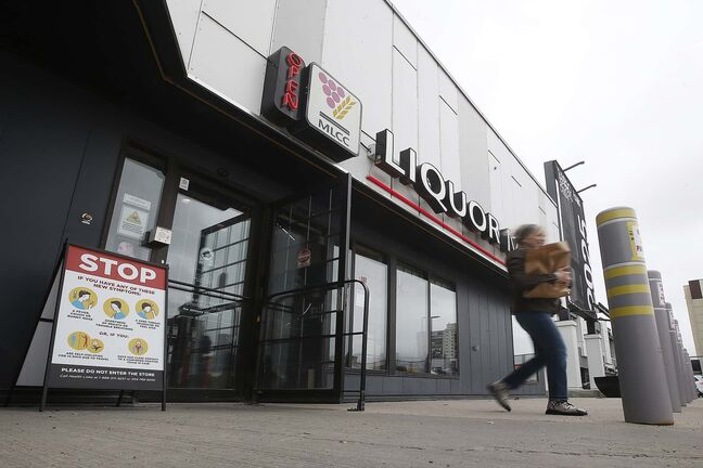 JOHN WOODS / WINNIPEG FREE PRESS Liquor Mart at Tuxedo Shopping Centre photographed Thursday, May 28, 2020.   Reporter: Da Silva