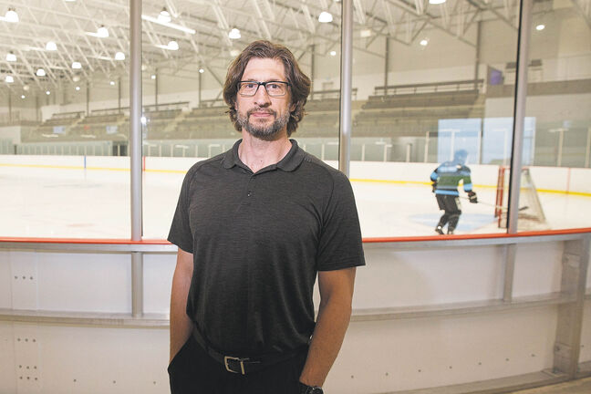 Dr. Jeff Leiter says players are just happy to be back on the ice since it was unknown if arenas were even going to open this summer. (Mike Deal / Winnipeg Free Press)
