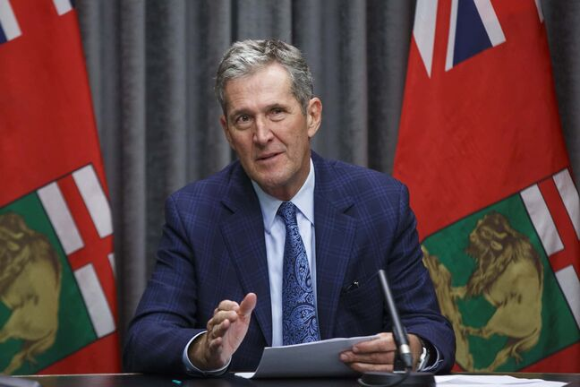 MIKE DEAL / WINNIPEG FREE PRESS Premier Brian Pallister announced his government is seeking feedback from the public on its proposed plan to ease public health restrictions during a media call at the Legislative building Thursday morning.  200611 - Thursday, June 11, 2020.