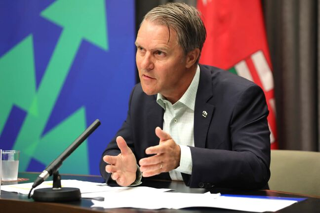 Health Minister Cameron Friesen announced a request for proposals for private surgeons, independent clinics and public health-care providers to complete a backlog of elective surgeries. (Ruth Bonneville / Winnipeg Free Press)