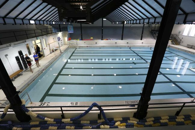 WAYNE GLOWACKI / WINNIPEG FREE PRESS     The official reopening of the Kinsmen Sherbrook Pool took place Monday morning.   Ashley Prest story.   Jan.9  2017