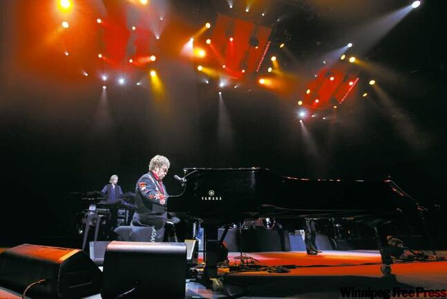 Music legend Sir Elton John returned to Winnipeg's MTS Centre Saturday night, delivering hit after hit to a crowd of 13,000.