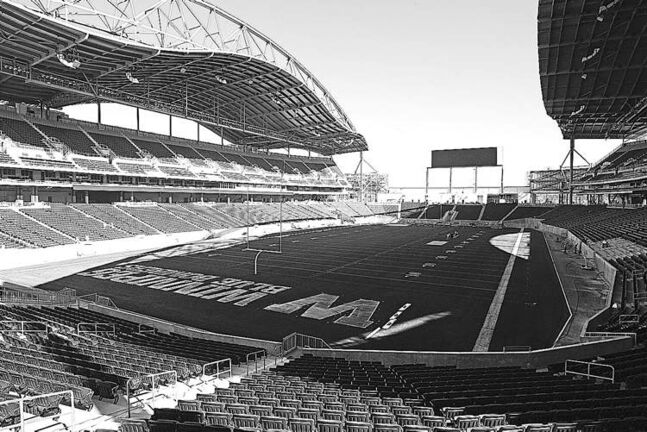 The Blue Bombers' new home, Investors Group Field, opens this season.