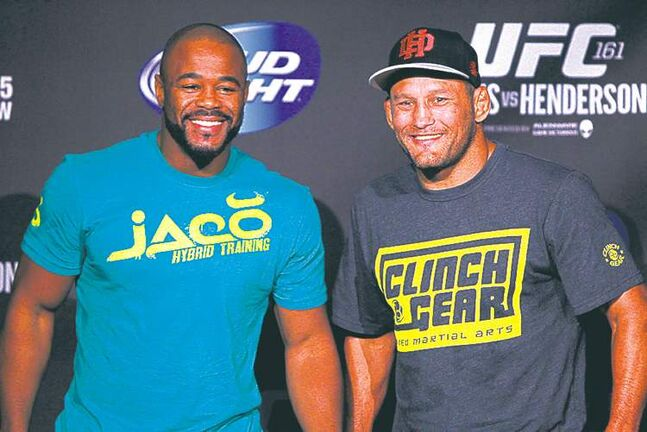 Rashad Evans and Dan Henderson won't be smiling when they square off Saturday.