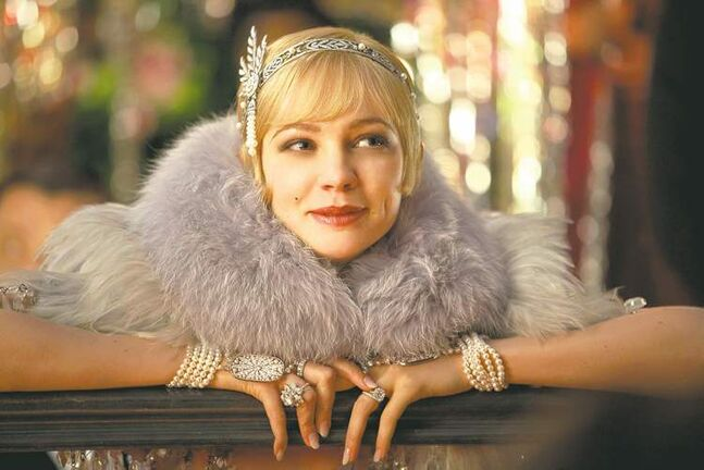 Actress Carey Mulligan as Daisy Buchanan in The Great Gatsby.