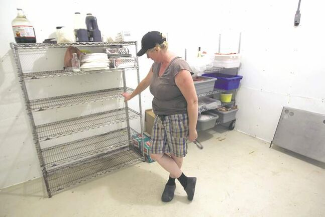 Pam Cavers was left with empty shelves after officials seized cured meat made on the farm she and her husband run.