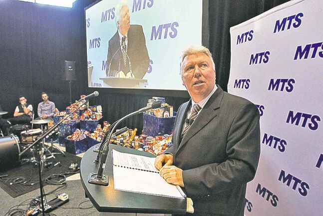 MTS Allstream CEO Pierre Blouin launches Future First, a new community-investment initiative.
