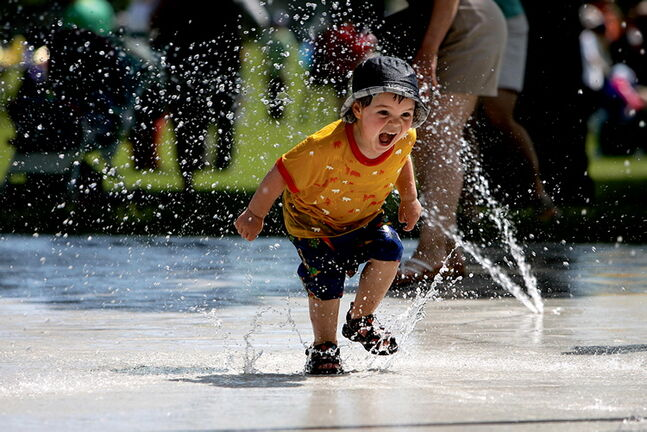 Spray pads will be open on Tuesday, July 1.